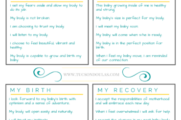 Pregnancy and Birth Affirmations for You